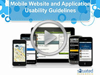 mobile web apps usability guidelines Webinars