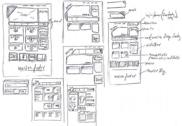 wireframe simple design