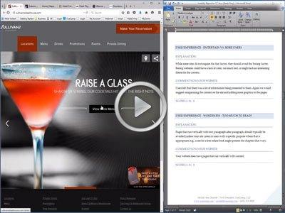 Free Website Usability Analysis Video